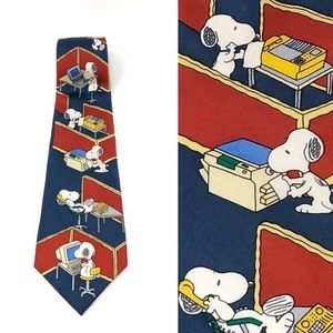 Peanuts by Iside | Snoopy Office Work Silk Tie